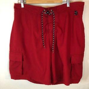 Nautica swim trunks size XL red pockets